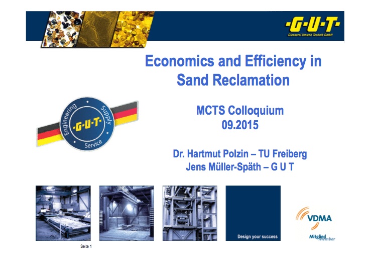 Economics and Efficiency in Sand Reclamation
