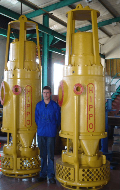 Two HIPPO High Voltage Submersible Slurry Pumps ready for Export.