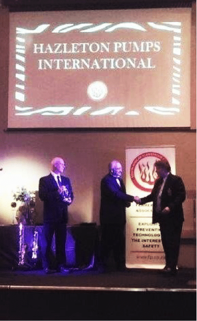 Mr. Thys Wehmeyer receiving the SAFA award for the Most Innovative Product or Engineer Solution of the Year 2015